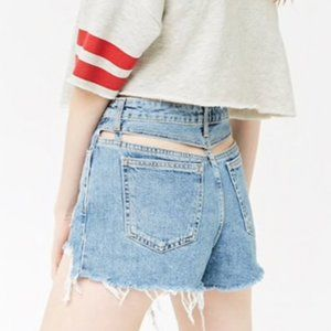 Forever 21 High Rise Shorts w/ Cut Outs in Back 28